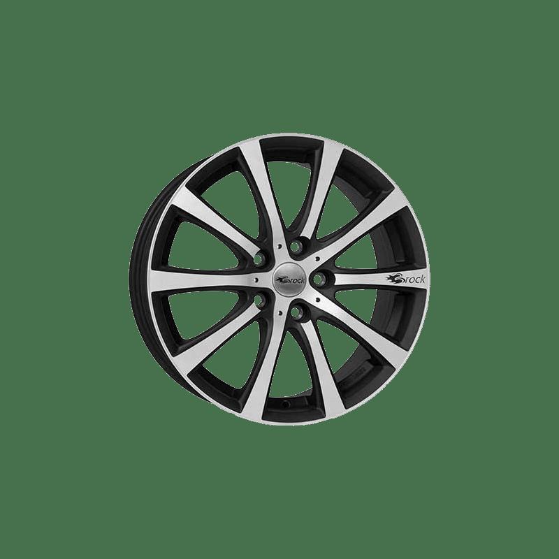 Brock-Typ-B21-75x17-LK5/108-ET45-schwarz-matt-poliert