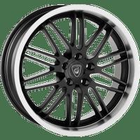 Aluett-Typ-12-85x19-LK5/112-ET20-schwarz-matt-Horn-poliert