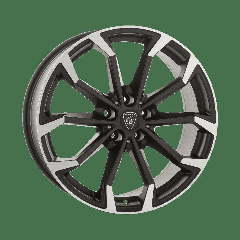 Aluett-Typ-88-80x19-LK5/112-ET47-schwarz-matt-poliert