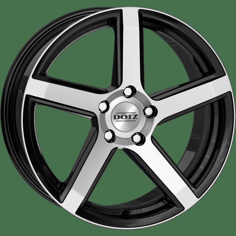 Dotz-CP5-70x16-LK4/100-ET45-schwarz-poliert
