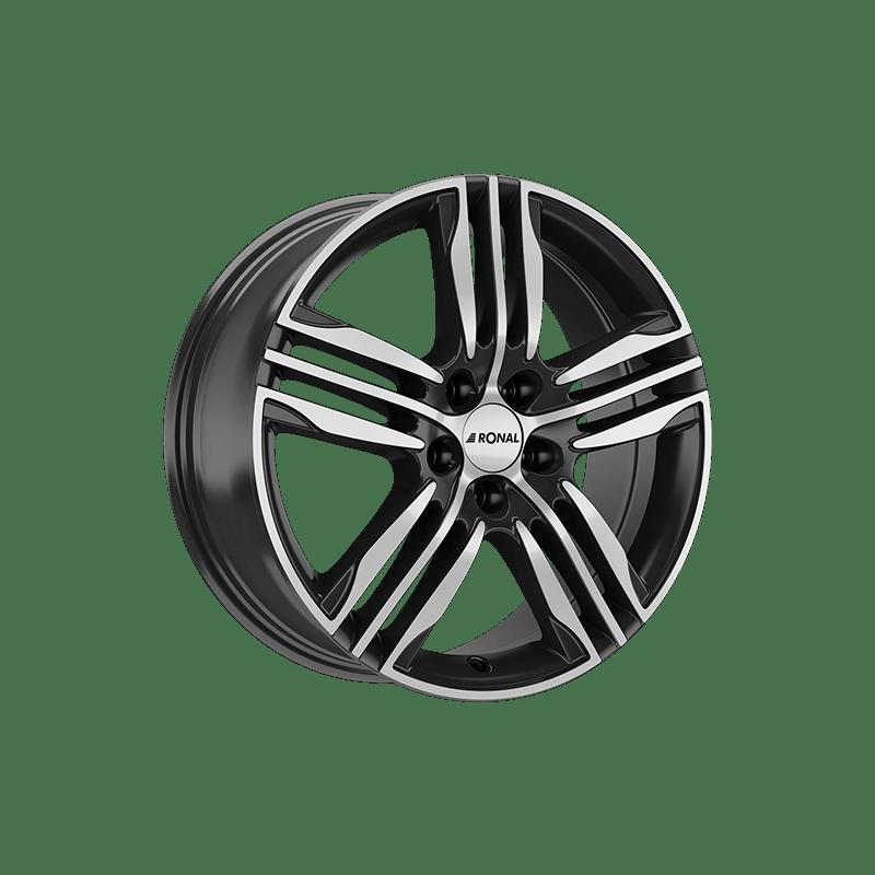 Ronal-Typ-R57-70x17-LK4/100-ET45-schwarz-poliert