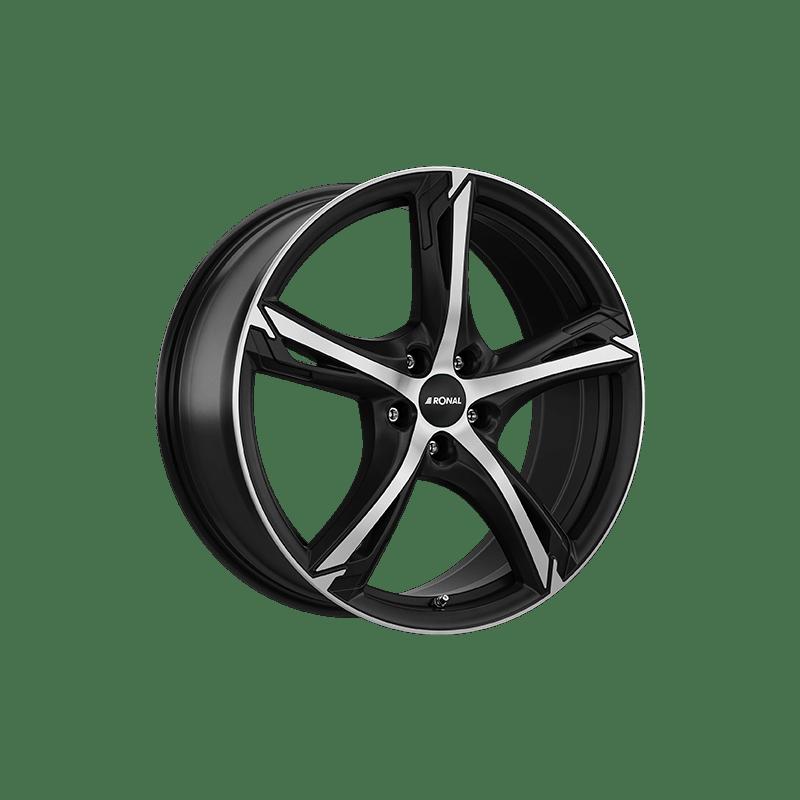 Ronal-Typ-R62-75x18-LK5/114-ET45-schwarz-matt-poliert